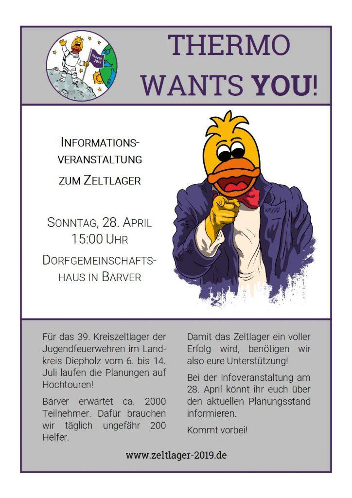 Am Sonntag, 28. April, findet unsere 2. Informationsveranstaltung statt. Ab 15 Uhr laden wir jeden Interessierten ins Dorfgemeinschaftshaus in Barver ein!